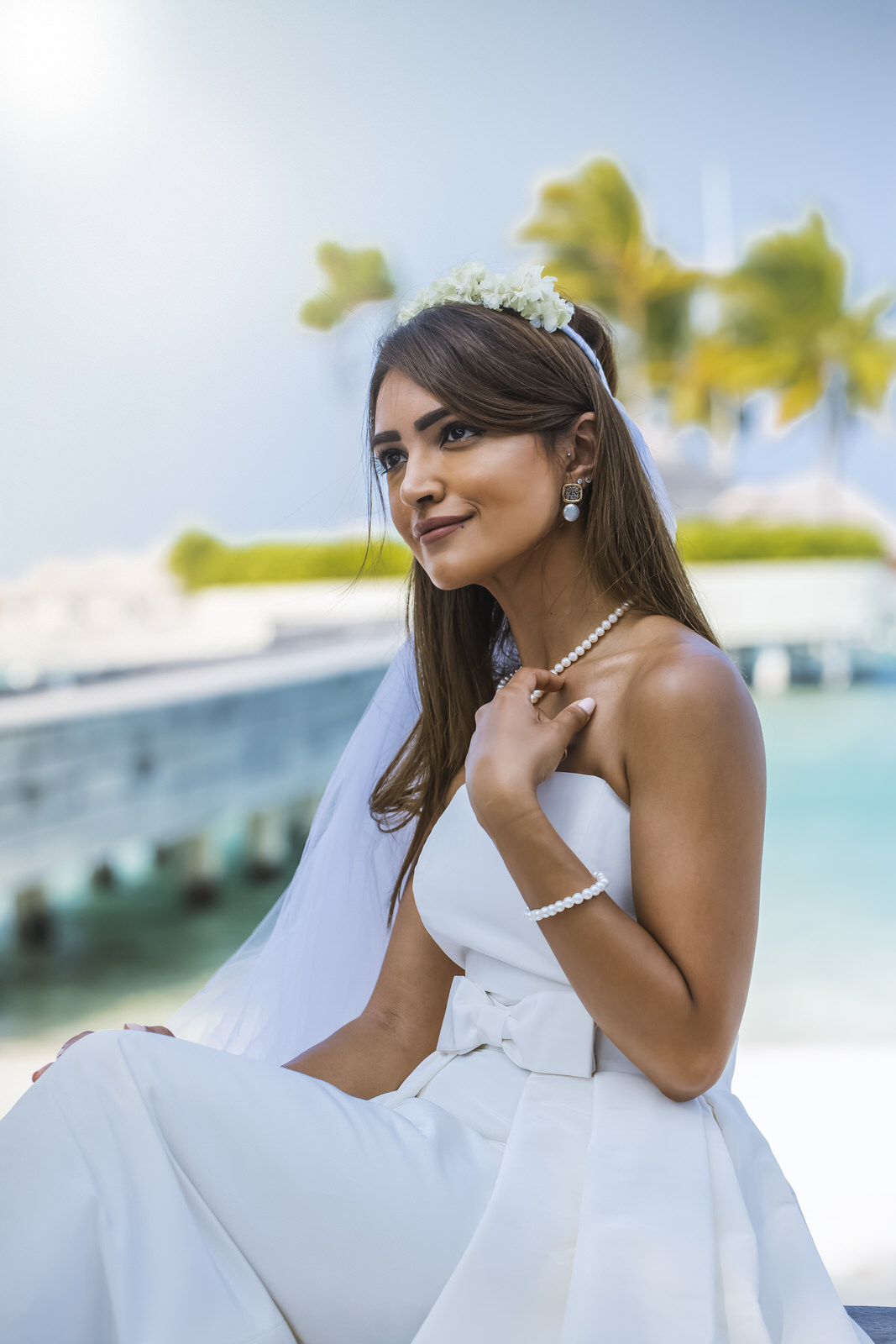creative bride portrait maldives photographers