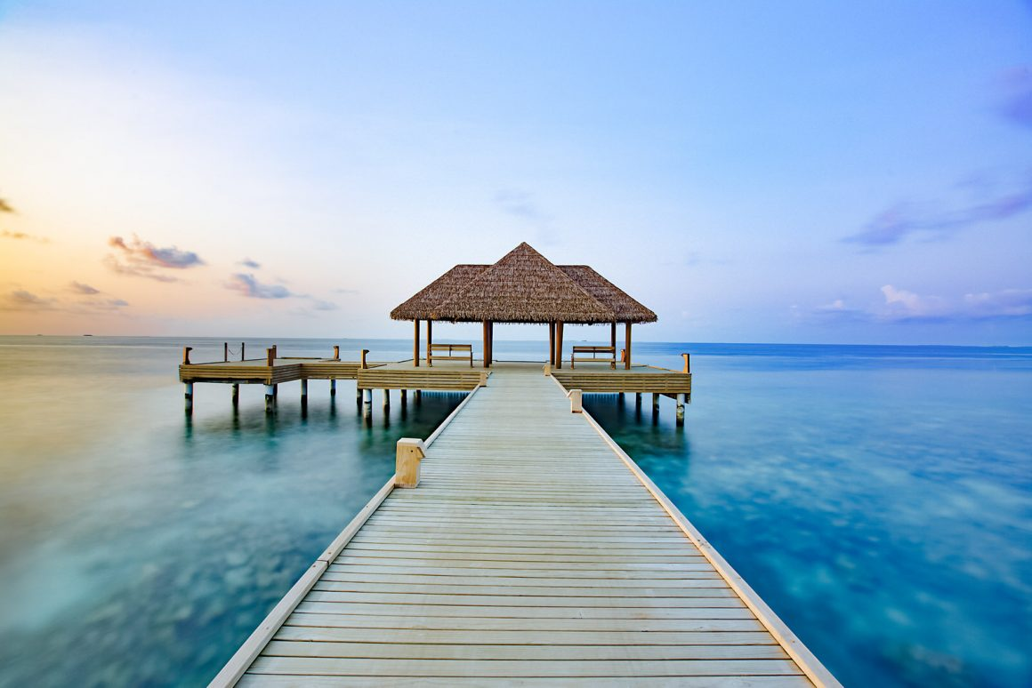 beautiful maldives resort jetty photography