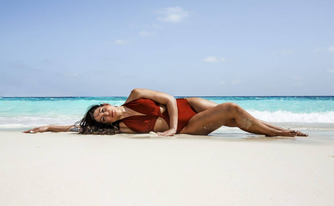 photography of maldives beach models