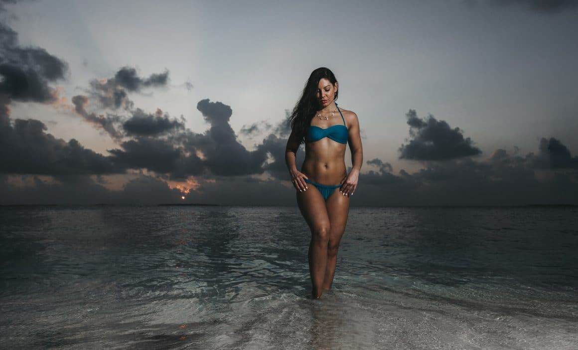 photography of model photographers in maldives